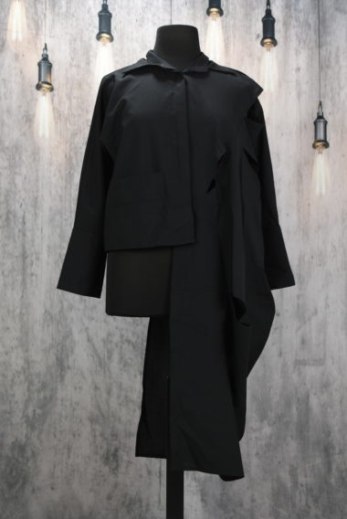 Veste asymétrique noir Creare Cross Open