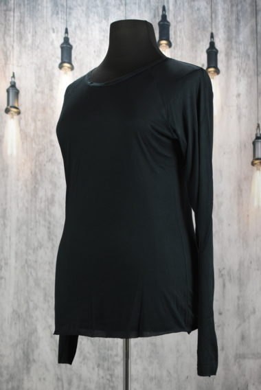 tee shirt basique creare en elasthanne noir