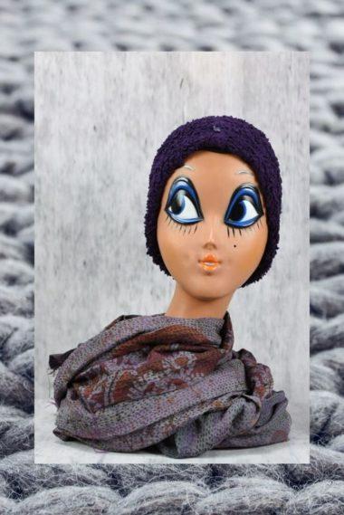 bonnet en coton bio fabelhat privatsachen violet