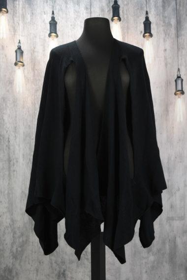 cardigan manches longues noir creare rayool