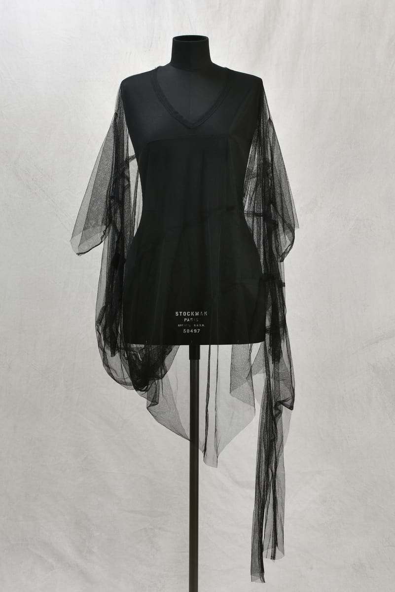 CREARE ROBE HOLES TULLE FACE ZOOM